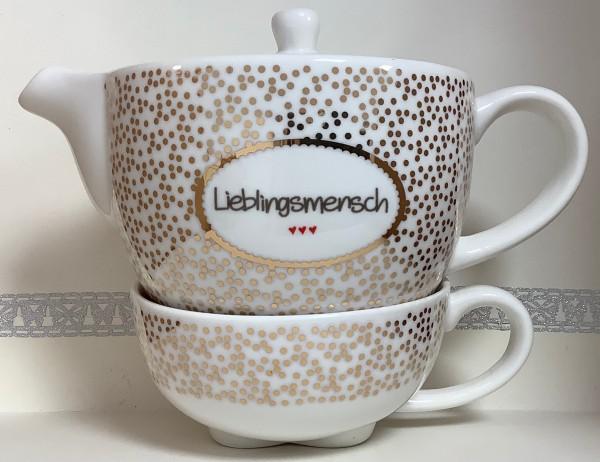 """Teekanne mit Tasse """"Lieblingsmensch"""""""
