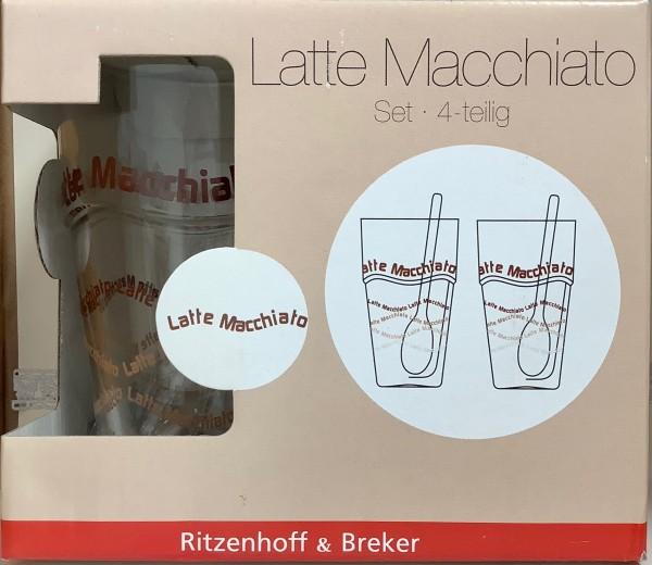 Latte Macchiato Set / 4-teilig