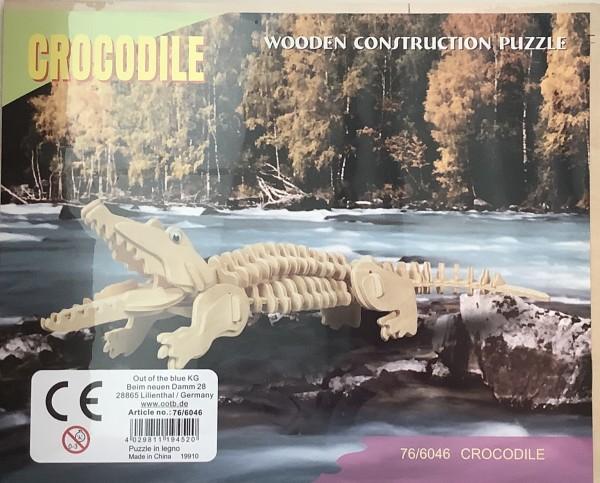 3D Holzpuzzle - Krokodiel