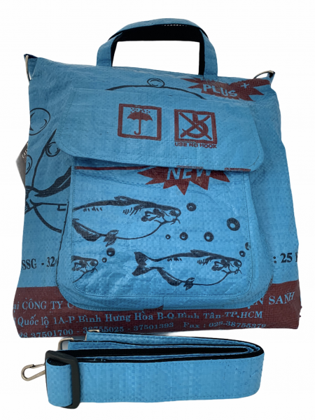 Upcycling - Tasche, blau