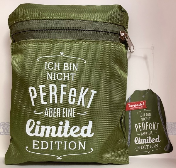 Turnbeutel: Ich bin nicht perfekt aber eine limited edition