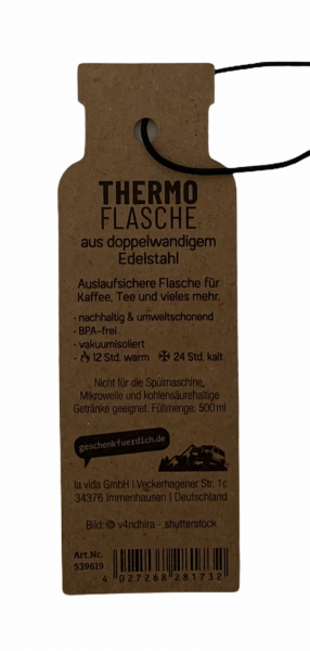 Thermoflasche - Starker Kerl
